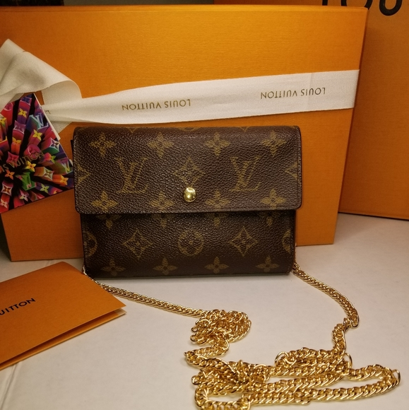 Louis Vuitton Handbags - Authentic Louis Vuitton Monogram Wallet with Chain